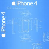 iPhone 4 Blueprint - 1024x1024 by Regivic