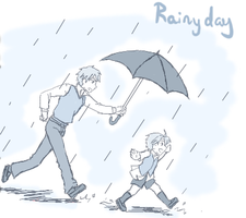 Rainy Day Arthur and Alfred by Duelistabbeyryou