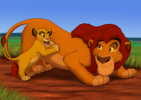 Pouncing Lessons - Father's Day Contest by Nala15