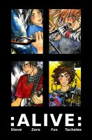 ALIVE Band Poster by Solitairy