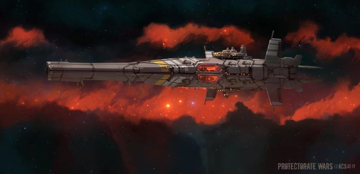 Protectorate Assault Cruiser by Shimmering-Sword
