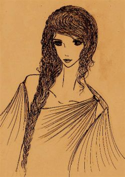 Sketch of Helen of Troy by sunjewel