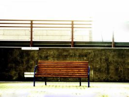 Bench in Oslo S by hcrobber