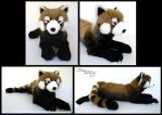 25 inch Red Panda by SarityCreations