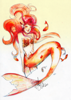 Goldfish princess by WildEllie
