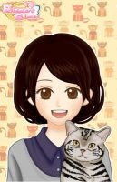 anime me 2 with a cat by cat55