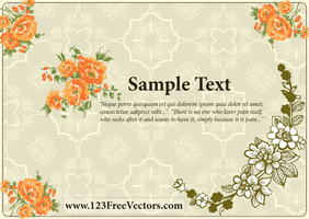 Flower Wedding Invitation Card by 123freevectors