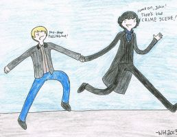 Johnlock - Adventure Time Style by DrZoro