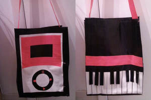 Piano-Ipod Duct Tape Purse by BlissfullySarcastic