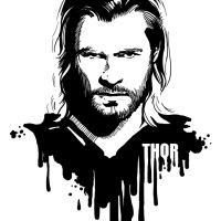 Avengers in Ink: Thor by loominosity