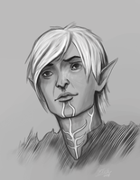 Hopeful Fenris by elethe