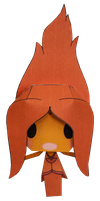 Flame Princess by PiercePapercraft