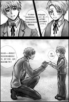 Alfred X Arthur story Page1 by Qianqiu