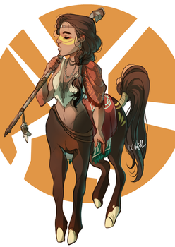 Monthly CDC - Centaur! by WildEllie