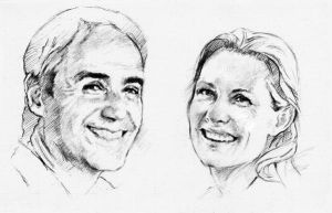 Couple faces sketch by SILENTJUSTICE