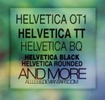 Helvetica font family by allleee