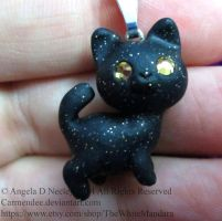 Little black kitty cat by carmendee