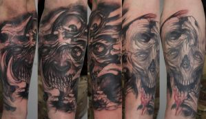 monster forearm custom tattoo by graynd