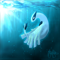 Lugia - Beast of the Sea by TheForgottenDawn