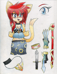 Doodle: Valkyrie of Dragon Fury/Fire by DragonQuestHero