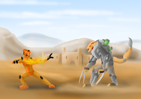 A Toa Vs A Beast by Saronicle