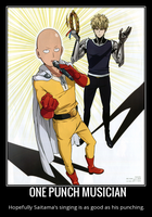 One Punch Man Motivational Poster 6 by slyboyseth