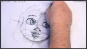 Learn How to Draw Young Girl's Face 015 by drawingcourse