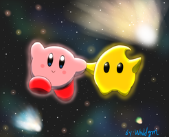 Kirby And The Luma by windgm