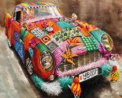 The name's Bombed, Yarn Bombed by veracauwenberghs
