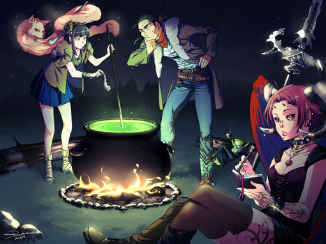 Around the Campfire by PortBaron