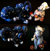 My Derpy and Luna Sculptures (eventually for sale) by luga12345