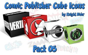 Comic Publisher Cube Icons-05 by KnightRider-SQ