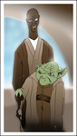 Windu and Yoda by A-Deadless-Mad-Man