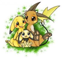 The Pichu Family by Spottedpie