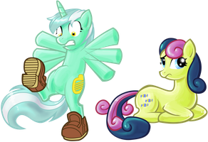 Lyra and Bon Bon by shadow-rhapsody