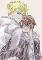 Seifer and Squall by sutashi04