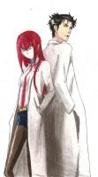 Steins Gate - Okabe and Kurisu by screwston12
