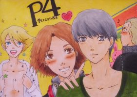 Persona 4 boys by Elfuuun