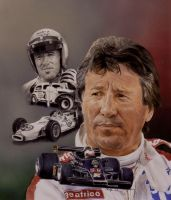 Race Driver Mario Andretti by Paluso4art