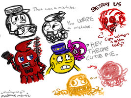 FIVE GHOSTLY NIGHTS SKETCHES AND SHIT by ArtLovingCatGirl