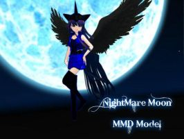 MMD/MLP - Nightmare Moon Model DL (OLD) by HauntingHeart