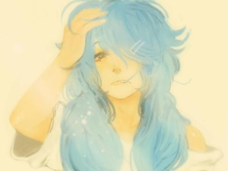 Bed hair aoba (repost gif didnt work) by Catfirmilla-chan