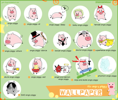 THE ANGRY PIGGY WALLPAPER by Pet-shop