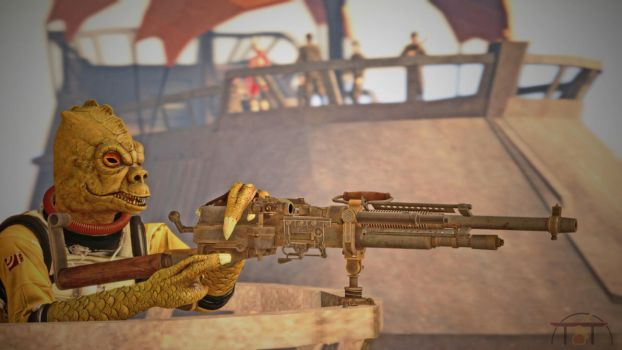 Bossk with Heavy Blaster Emplazed By Tatooine by TerritoryTunguska