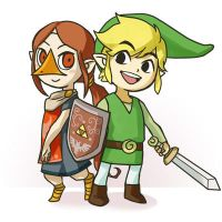 Link and Medori by Sii-SEN