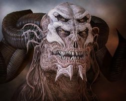 Portrait of the Demon Guard by kolakis