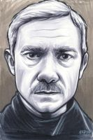 John With Moustache by AshleighPopplewell