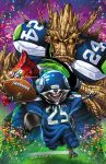 ECCC 2015 Seahawks Rocket + Groot with Blond by mechangel2002