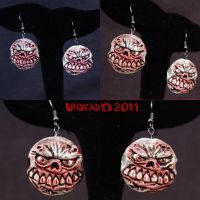 Zombie Earrings Overbite by Undead-Art