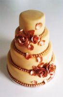 Wedding Cake Roses by Naera